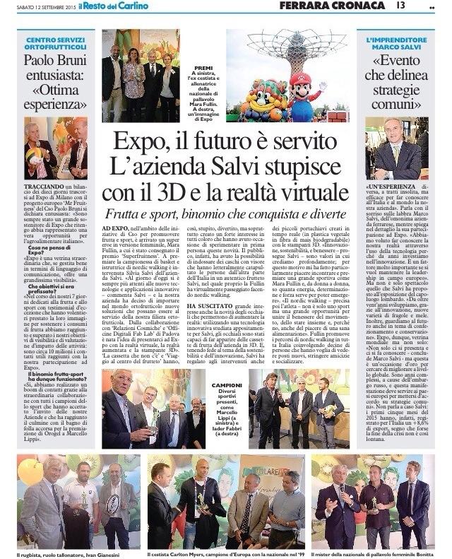 Expo_Salvi_Il Resto del Carlino Fe_11.09.2015