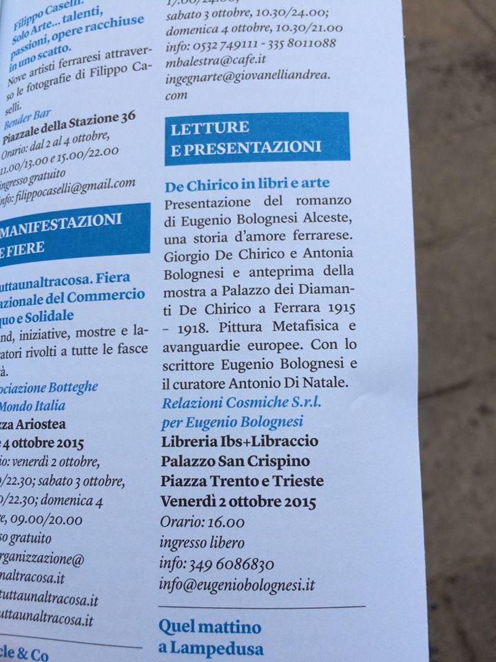 Anche noi sul programma di #internazionale a #Ferrara! #relazionicosmiche!