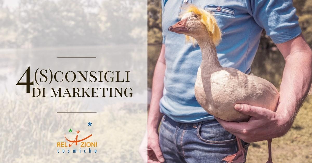 4 S-consigli di marketing_Relazioni Cosmiche