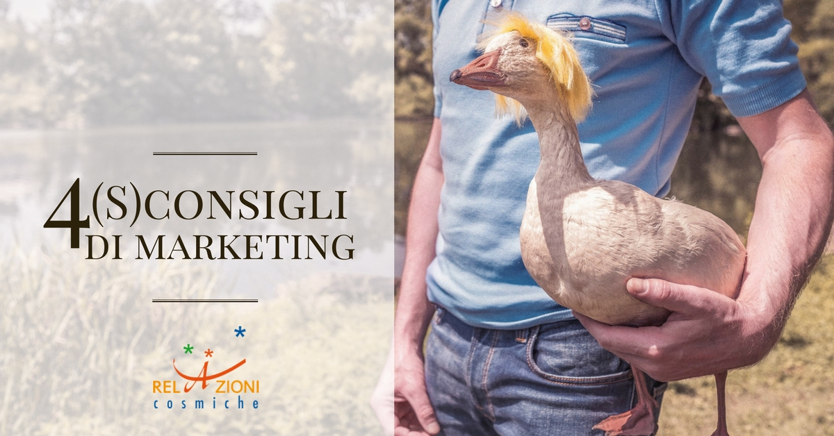 4 S-consigli di Marketing