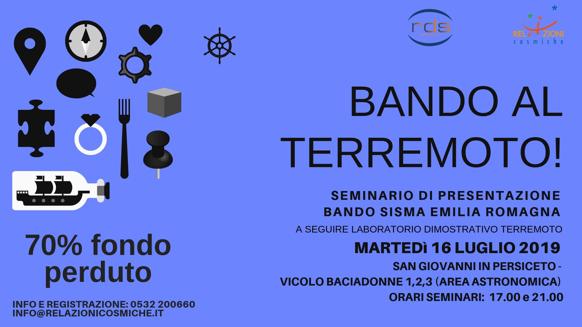 BANDO AL TERREMOTO! – S.GIOVANNI IN PERSICETO (BO)